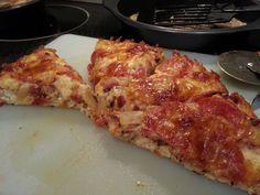Chicken & Mozzarella Crust. Best Keto Pizza! - Imgur