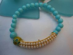 SALE BOHEMIAN PEARLS Bracelet  Gypsy bracelet Ethnic by Nezihe1, $17.00