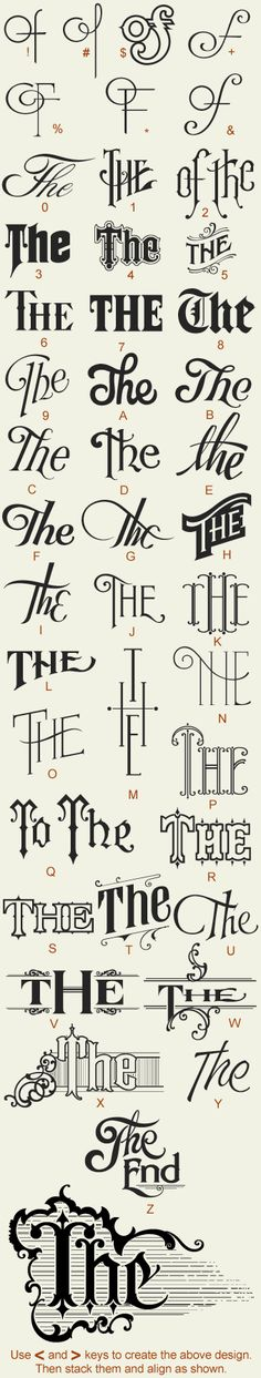 Decorative type variations