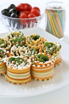 Antipasto Rollups with Spinach & Kale by rotinrice: So pretty!