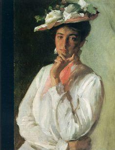 Woman in White,   William Merritt Chase