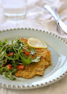 An easy, light and delicious fish dish topped with a simple arugula salad #Lent tomato, healthy fish recipes dinner, dinner recipes healthy fish
