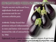 Naturally high in fiber, each nightshade vegetable offers antioxidant benefits that aid the body in fighting disease and inflammation naturally…eliminating problems once and for all.
