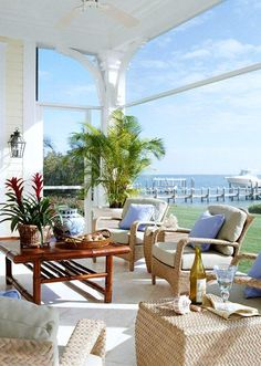 Coastal Living...great porch, great dock...great life!