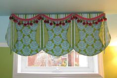 Custom Window Valance Ideas With Green Color