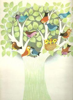 Baby Birdies in a Tree