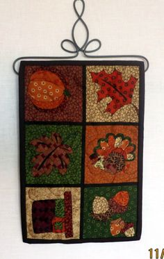 Fall Thanksgiving Wall Hanging by wrenquilts on Etsy,