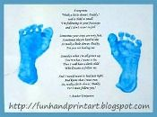 Father's Day Hand/Footprint Ideas With A Few Different Poems.