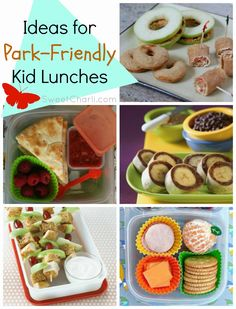 Easy lunch ideas to take to the park or pool for summer.  Goes beyond the 'peanut butter sandwich'!  #kidlunch #picnic