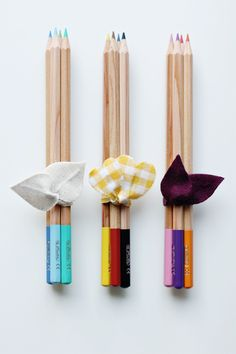 dipped pencils, bow.