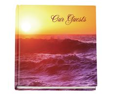 """Memorial Service Guest Book Twilight Glossy Hardcover with Photo, optional 8"""" x 8"""""""