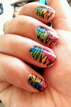 Zebra print over rainbows!