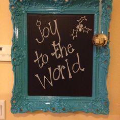 My $4 mirror turned chalkboard.