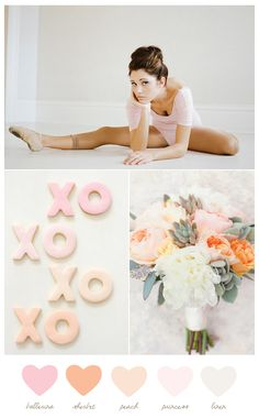 Ballerina + peach | The Sweetest Occasion