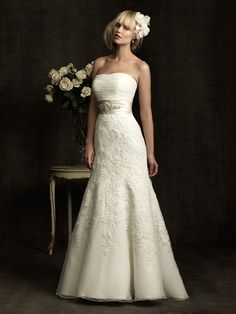 Allure Bridals : Allure Collection : Style 8908 : Available colours : White/Silver, Ivory/Silver, Ivory/Cafe/Silver