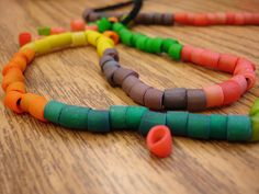 Macaroni necklace...kids love making these.