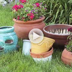 Find the right pot for your container garden! Watch here: http://www.bhg.com/videos/m/85157416/choosing-the-right-pot-for-your-container-garden.htm?socsrc=bhgpin081814containergarden