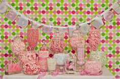 Baby shower candy buffet #babyshowercandybuffet
