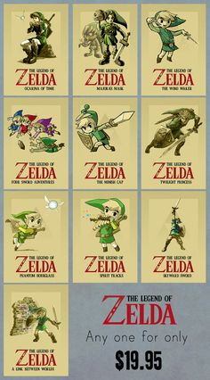 The Legend of Zelda  Choice of A3 Poster by Guraphiku on Etsy, $19.95
