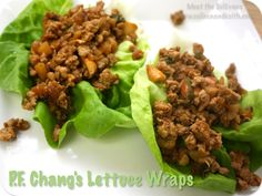 Recipe: P.F. Chang's Lettuce Wraps-- made these for dinner and they are AMAZING. Used ground turkey breast and they turned out great.