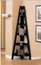 corner shelving unit - this would go well with other shelves in living room