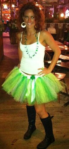 St. Patty's Day outfit! Tutu's!!! Anyone wanna go downtown in tutus with me? lol day outfits, adult tutu