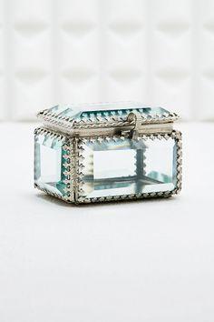 Vintage Glass Jewellery Box