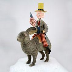 Uncle Sam On Rabbit Holiday Decoration