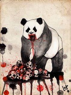 Angry Panda by lesiart #panda #lesiart