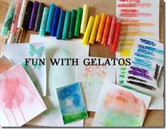fun with gelatos - Watercolor Techniques with Gelatos