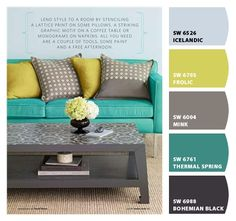Loves these colors for Master bedroom and bathroom. Paint colors from Chip It! by Sherwin-Williams