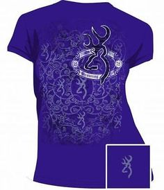 Browning Buckmark Womens Purple Graphic T Shirt