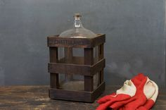 Crated Glass Bottle