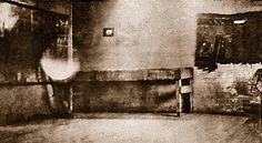 "Billy's body was taken from the Maxwell house and laid out on a bench (above) in the old carpenter shop. Candles were lit and placed around the corpse. Jesus Silva stated that ""a large number of Billy's friends"" gathered at the wake."