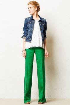 Anthropologie Pants in Fun Green