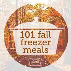 101 Fall Freezer Meals | Once A Month Meals | Freezer Cooking | OAMC