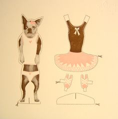 Dog paper doll