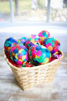 Paper Mache Confetti Eggs-Easter Eggs to Use Year After Year