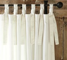 I like these PB tie-top drapes as a casual kitchen option.
