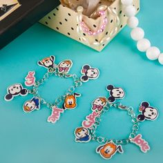 Mickey and Friends Cutie Charm Bracelets