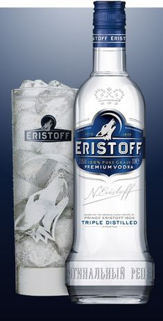 ERISTOFF vodka  (Bacardi Brand) is named after one of Georgia's oldest and most noble families and is inspired by the original recipe first created by the Eristoff family in 1806. The Persians originally named Georgia 'Virshan' meaning the 'Land of the Wolf', as the wild and rugged landscape is the home of the roaming wolf. ERISTOFF vodka is made from a 100% pure grain, triple distilled and charcoal filtered for absolute purity to create a clean, smooth tasting spirit.#vodka #topvodkabrands