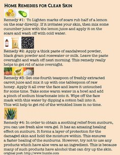 home remedies for clear skin