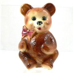 ON SALE Royal Copley Teddy Bear Bank Bear Bank by FineRedefined, $39.00