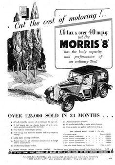 Classic Car adverts - Morris 8