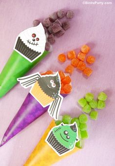 Bird's Party Blog: Halloween Candy Cones
