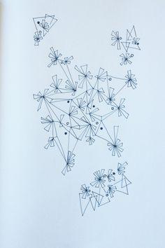 Random drawing / visual explorations of shapes, arrangements and spatial aggregations