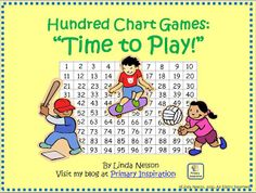 FREE playground-themed hundred chart games