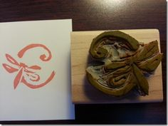 Claudia Perry carved her blog's logo with the Undefined Kit!