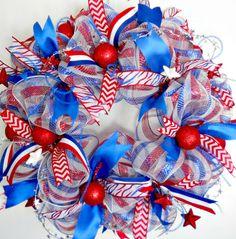 Deco Mesh Patriotic wreath
