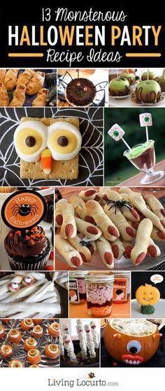 13 Halloween Party Recipe Ideas! #halloween #recipe